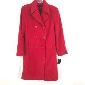 NEW Anne Klein Lambswool Cashmere blend Long Coat